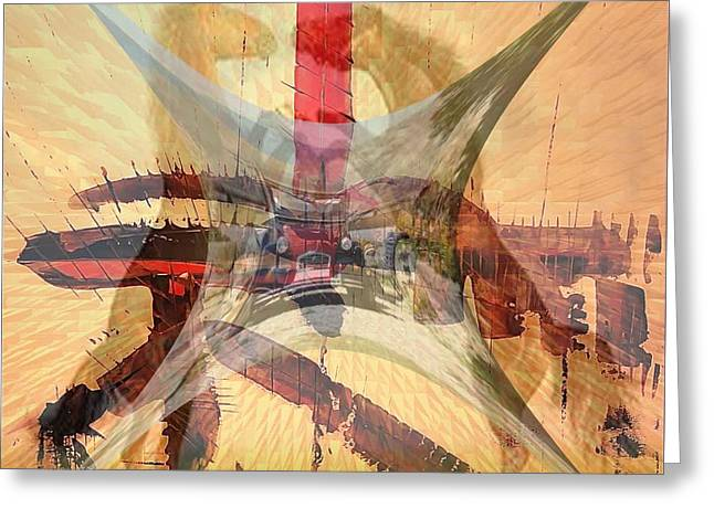 'charlestonbirht2horses' Greeting Card by Vincent Messelier