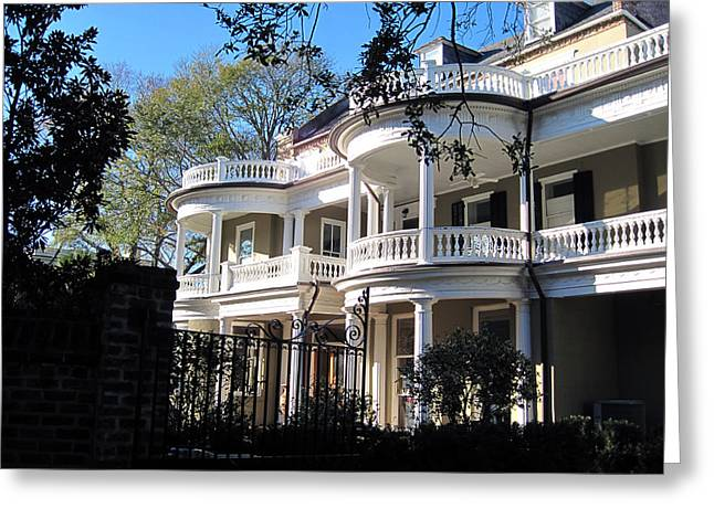 Southern Lifestile Greeting Cards - Charlestons beautiful architecure Greeting Card by Susanne Van Hulst