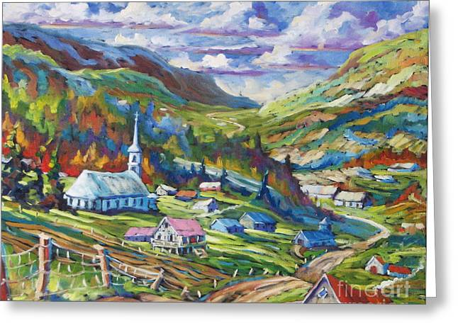 Church Painter Greeting Cards - Charlevoix Inspiration Greeting Card by Richard T Pranke