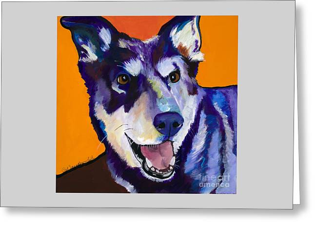 Greeting Cards - Charley Greeting Card by Pat Saunders-White