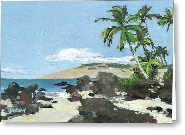 Charley Young Beach Morning Greeting Card by Stacy Vosberg