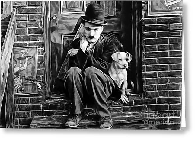 Chaplin Poster Greeting Cards - Charlie Chaplin Collection Greeting Card by Marvin Blaine