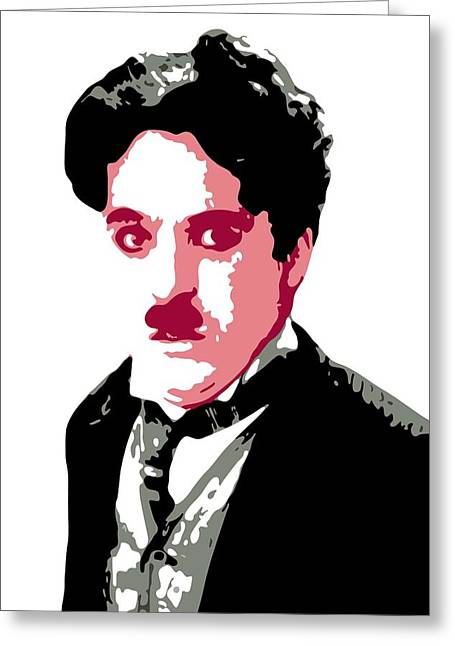 Comedian Digital Greeting Cards - Charlie Chaplin Greeting Card by DB Artist