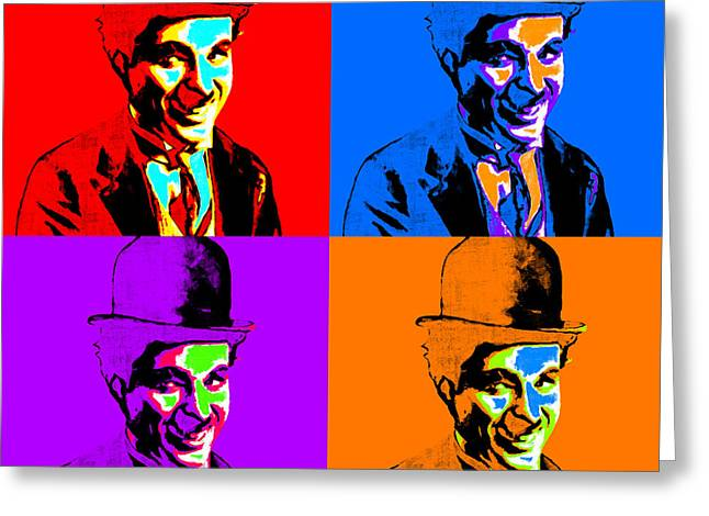 Comedian Digital Greeting Cards - Charlie Chaplin Four 20130212 Greeting Card by Wingsdomain Art and Photography