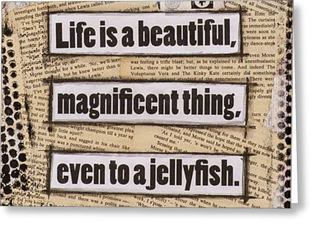 Movie Art Greeting Cards - Charlie Chaplin Life is Beautiful Greeting Card by Stanka Vukelic