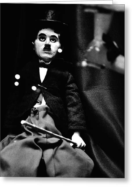 The Little Tramp Greeting Cards - Charlie Chaplin Marionette Greeting Card by Kyle Hanson
