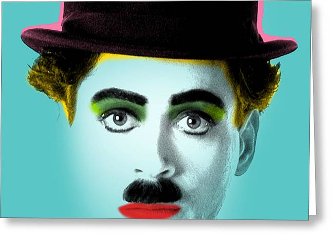 Charlie Chaplin Greeting Card by Mark Ashkenazi