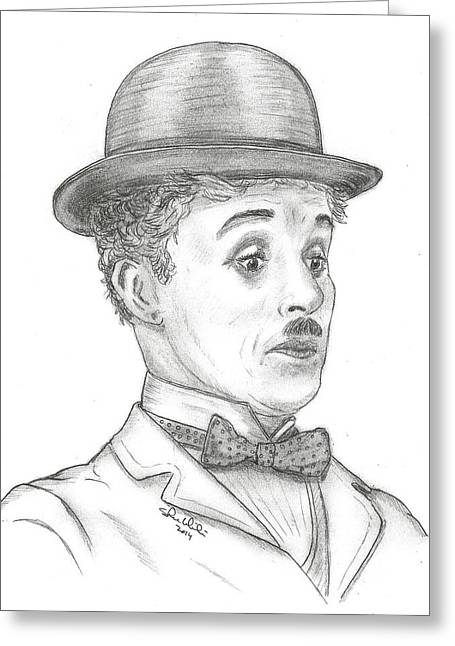 Recently Sold -  - Steven White Greeting Cards - Charlie Chaplin Greeting Card by Steven White