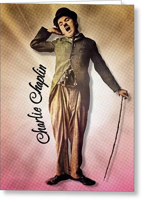 Charlie Chaplin - The Yawn Greeting Card by Darlanne