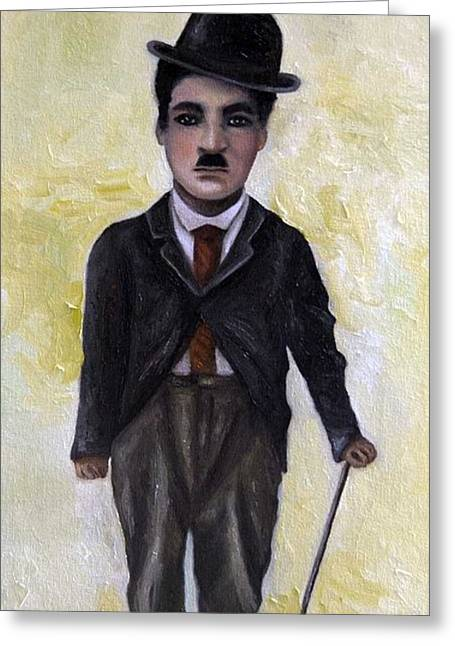 Comedian Greeting Cards - Charlie Greeting Card by Leah Saulnier The Painting Maniac