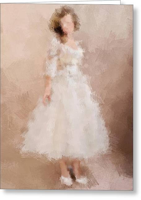 Fashion Art For Print Greeting Cards - Charlie Greeting Card by Nancy Levan