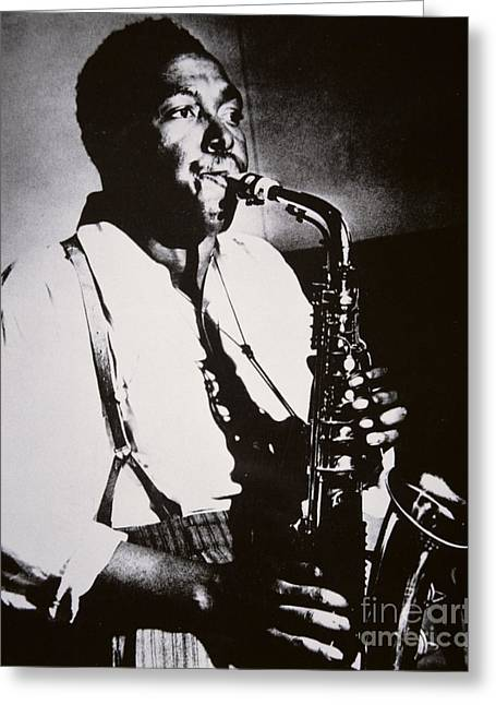 Black Man Greeting Cards - Charlie Parker Greeting Card by American School