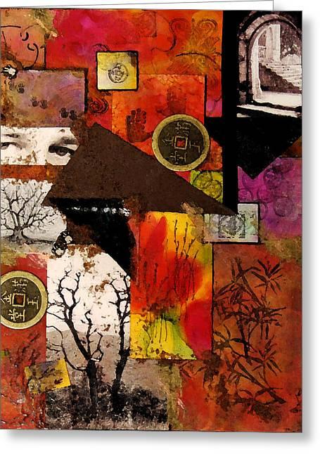 Fantasy Tree Mixed Media Greeting Cards - Charlie Greeting Card by Patricia Motley