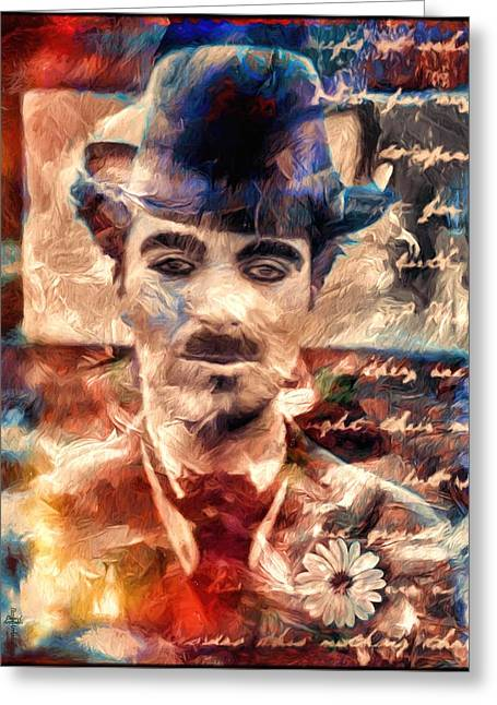 Charlot Colors And Poems  Greeting Card by Daniel Arrhakis