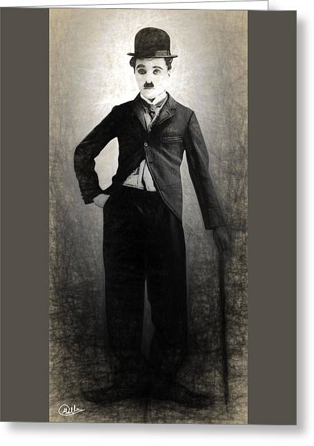 Charlot Greeting Cards - Charlot Greeting Card by Quim Abella