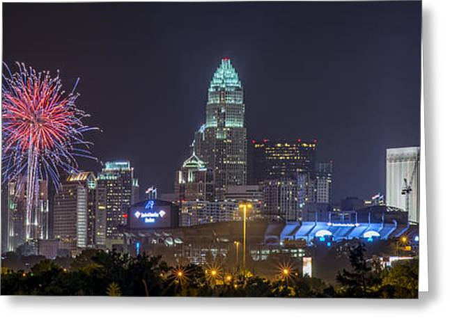 Charlotte Nc Greeting Cards - Charlotte Celebration Greeting Card by Brian Young