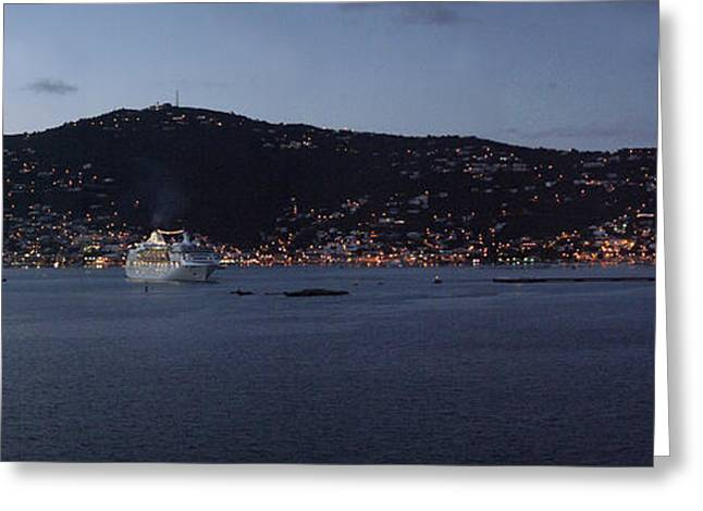 Charlotte Amalie at Dusk Greeting Card by Gary Lobdell