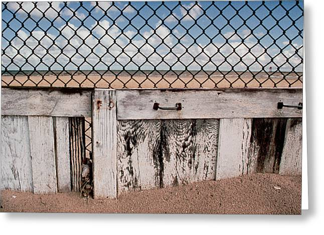 Charlotte Beach Fence Greeting Card by Peter J Sucy