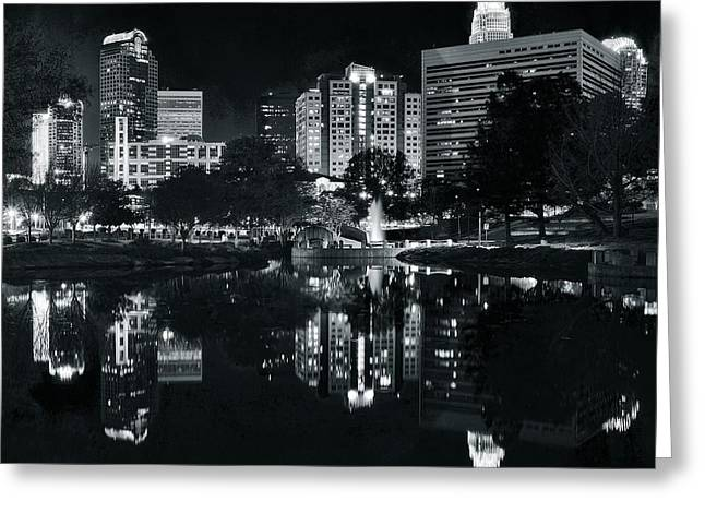 Charlotte Greeting Cards - Charlotte Black Night Greeting Card by Frozen in Time Fine Art Photography