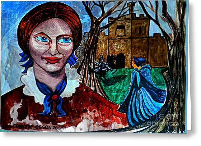 Cover The Face Greeting Cards - Charlotte Brontes Jane Eyre I Greeting Card by Genevieve Esson