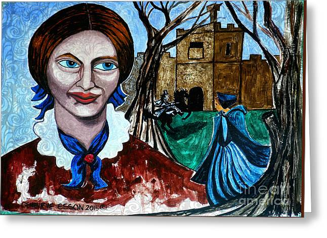 Cover The Face Greeting Cards - Charlotte Brontes Jane Eyre II Greeting Card by Genevieve Esson