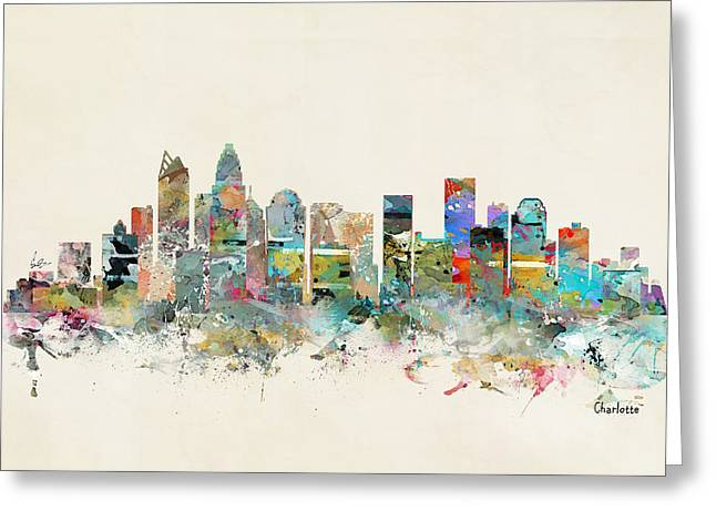 Charlotte City Greeting Card by Bri B