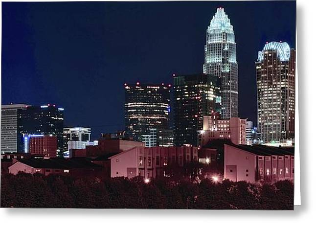 Charlotte City Skyline Greeting Card by Frozen in Time Fine Art Photography