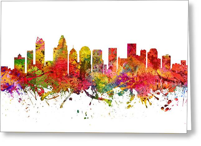 Charlotte Greeting Cards - Charlotte Cityscape 08 Greeting Card by Aged Pixel