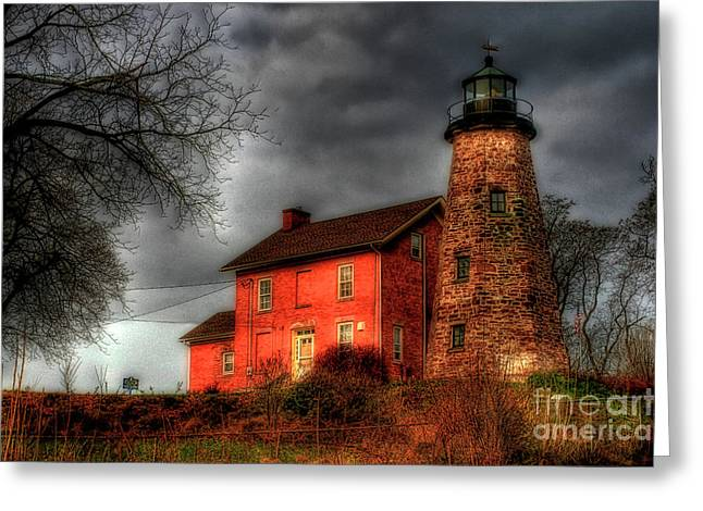 Charlotte Greeting Cards - Charlotte-Genesee Lighthouse  Greeting Card by Joel Witmeyer