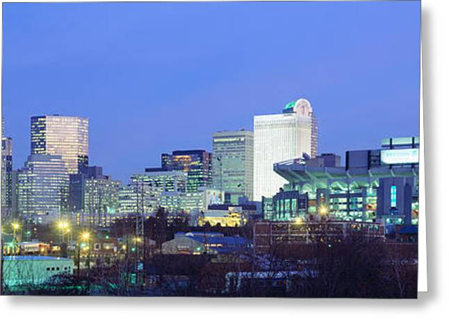 Downtown Charlotte Greeting Cards - Charlotte Nc Greeting Card by Panoramic Images