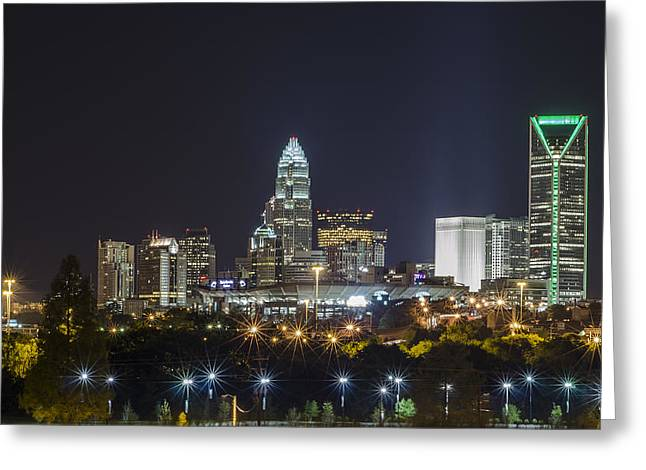 Charlotte Greeting Cards - Charlotte Night Greeting Card by Brian Young