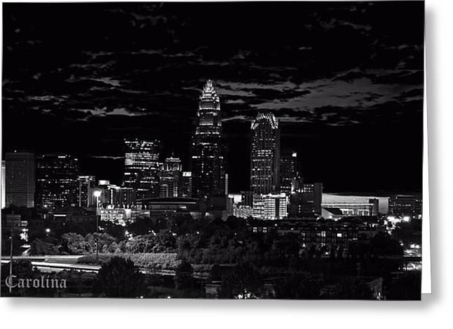 Charlotte Photographs Greeting Cards - Charlotte North Carolina Greeting Card by Chris Flees