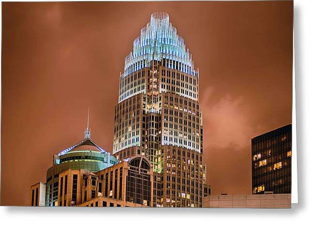 Charlotte Greeting Cards - Charlotte North Carolina Skyline  Greeting Card by Alexandr Grichenko