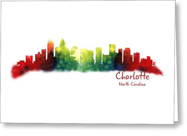 Charlotte Digital Greeting Cards - Charlotte North Carolina TShirts and Accessories Greeting Card by Loretta Luglio
