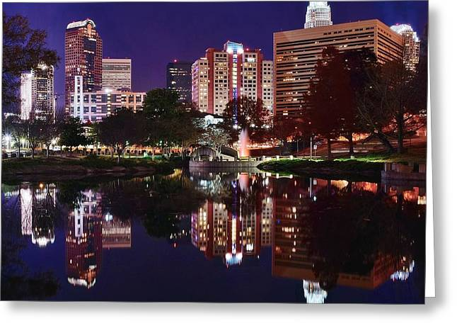 Charlotte Reflections Greeting Card by Frozen in Time Fine Art Photography