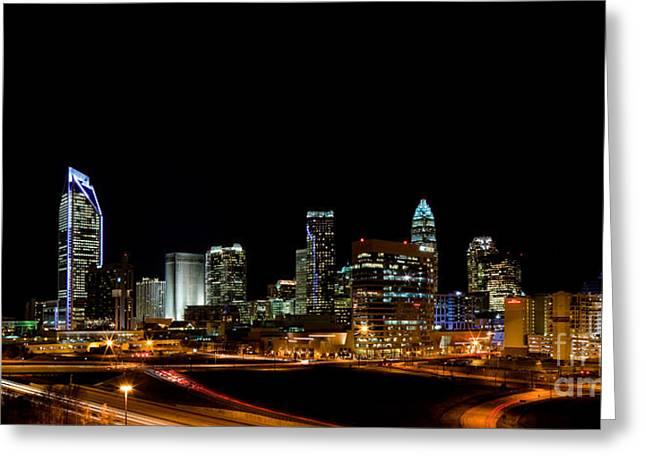 Charlotte Skyline panoramic Greeting Card by Patrick Schneider