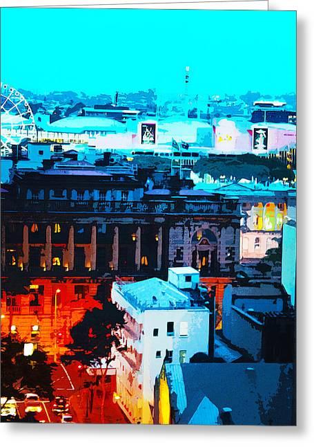 Charlotte Digital Greeting Cards - Charlotte Steet Brisbane Greeting Card by Susan Vineyard