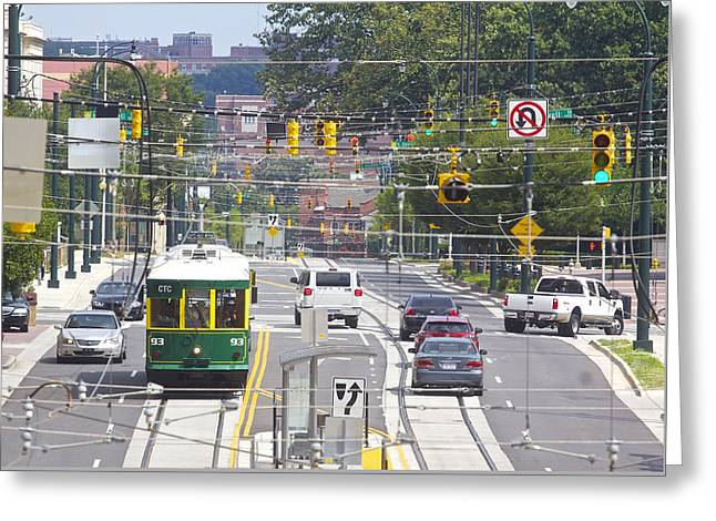 Charlotte Greeting Cards - Charlotte Streetcar Line 2 Greeting Card by Joseph C Hinson Photography
