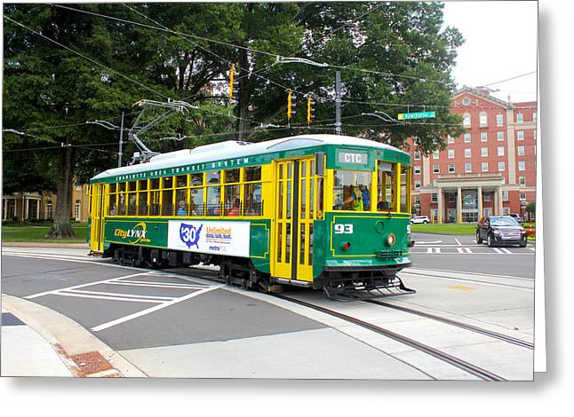 Charlotte Greeting Cards - Charlotte Streetcar Line 3 Greeting Card by Joseph C Hinson Photography