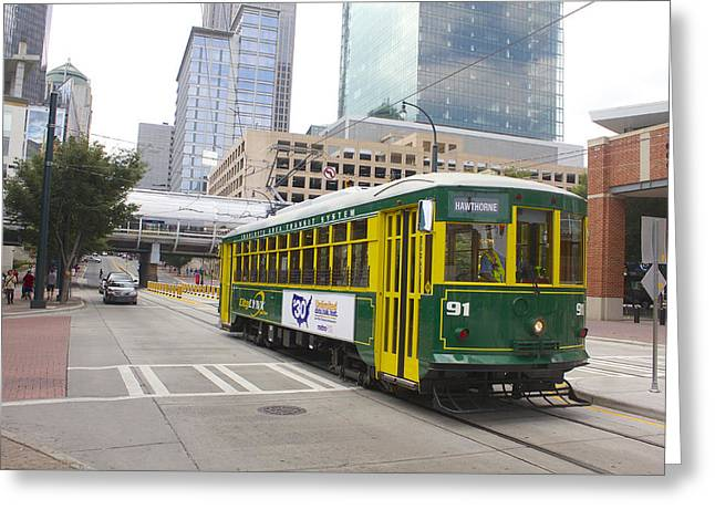 Medical Greeting Cards - Charlotte Streetcar Line 5 Greeting Card by Joseph C Hinson Photography