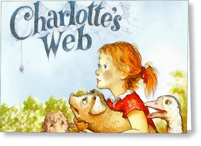 Charlottes Web Greeting Card by Elizabeth Coats