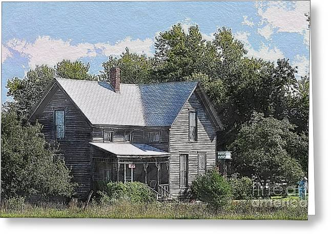 Liane Wright Greeting Cards - Charming Country Home Greeting Card by Liane Wright