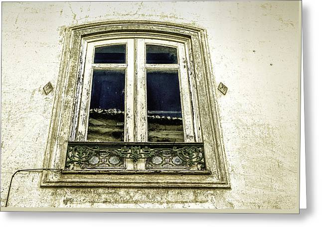 Charming Old Window In Europe Greeting Card by Marion McCristall