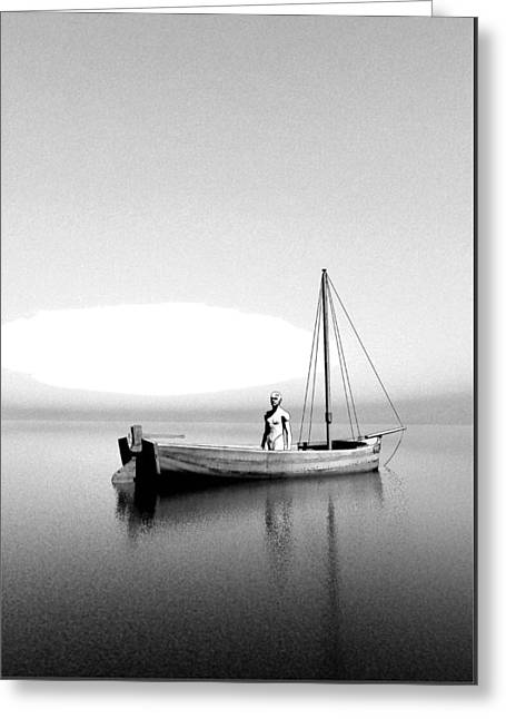 Boatman Greeting Cards - Charon by Quim Abella Greeting Card by Joaquin Abella
