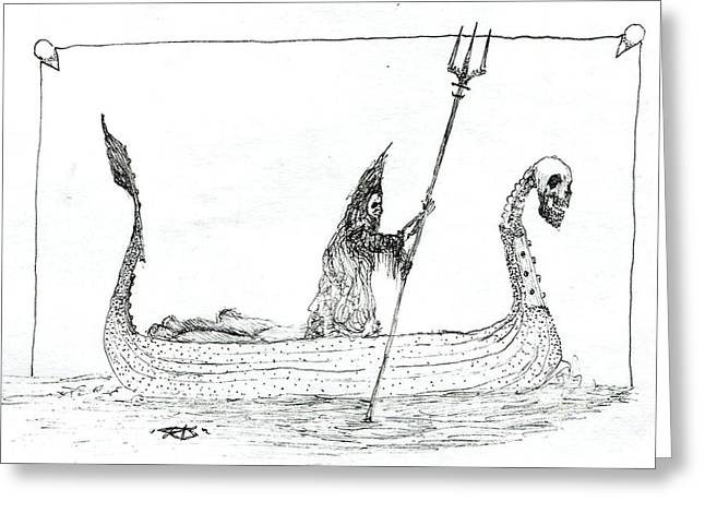 Ferryman Greeting Cards - Charon Greeting Card by Kristofor Miller