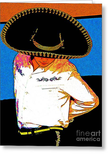 Charro Hat Greeting Cards - Charro Greeting Card by Kimberley Joy Ferren