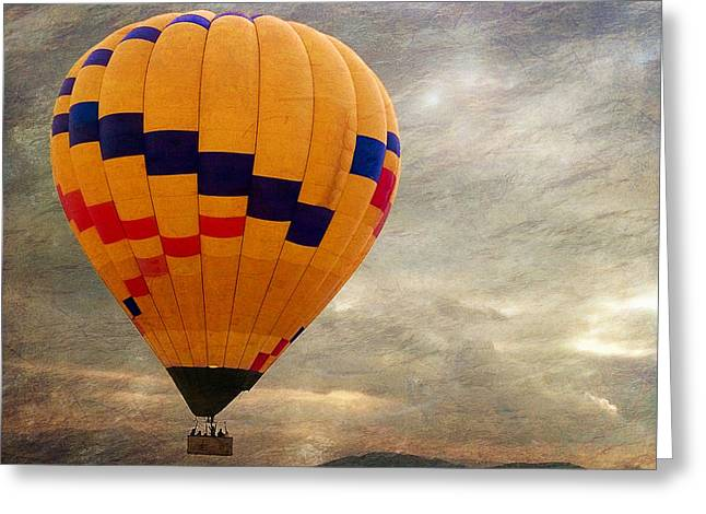 Chasing Hot Air Balloons Greeting Card by Glenn McCarthy Art and Photography