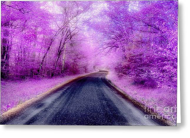 Mountain Road Greeting Cards - Chasing My Illusion Greeting Card by Michael Eingle