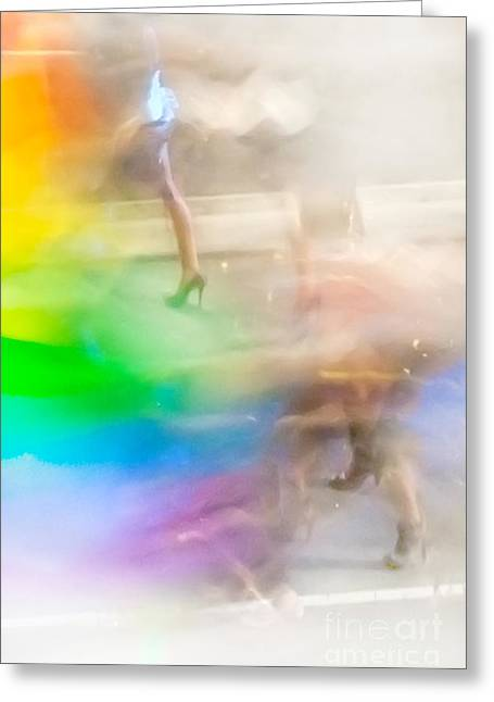Dancing Greeting Cards - Chasing The Rainbow Greeting Card by Az Jackson