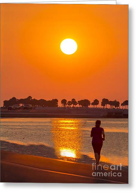 Gulf Of Mexico Scenes Greeting Cards - Chasing The Sunset Greeting Card by Marvin Spates
